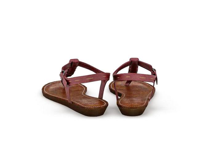 Flip Flop Sandals 3d rendering