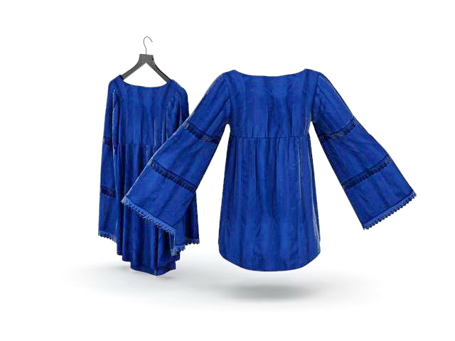 Ladies blouses 3d rendering