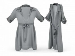 Satin nightgowns 3d preview