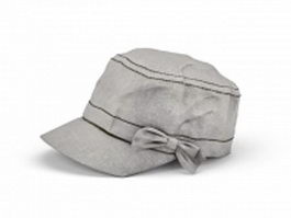 Flat hat for women 3d preview