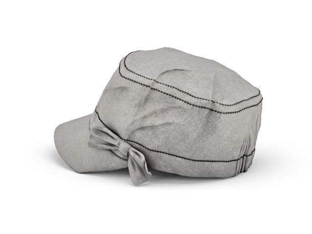 Flat hat for women 3d rendering