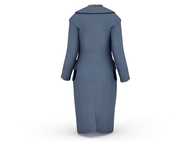 Women overcoat 3d rendering