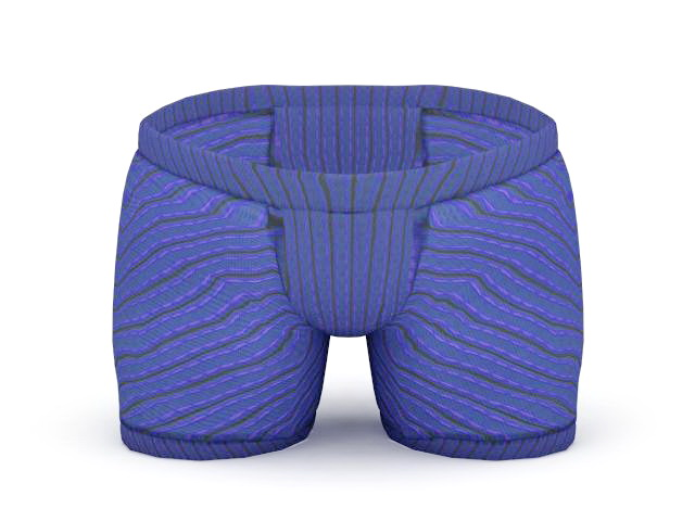 Boxer shorts 3d rendering