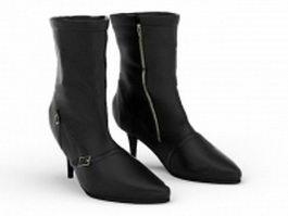 Slim heel boots 3d preview