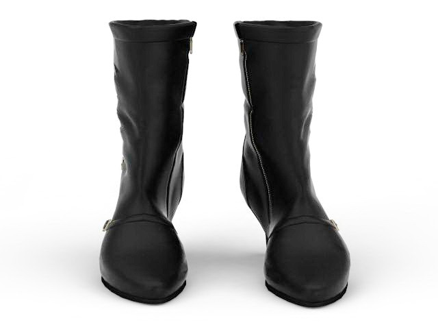 Slim heel boots 3d rendering