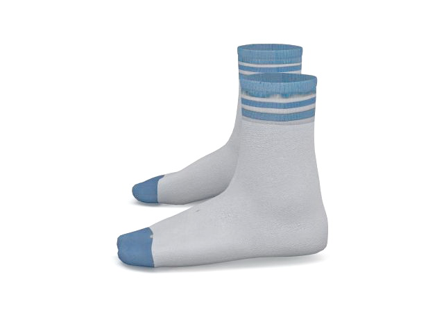 Ankle socks 3d rendering