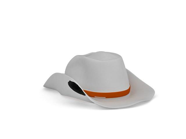 Cowboy hat 3d rendering