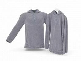Hooded sweatshirt 3d preview