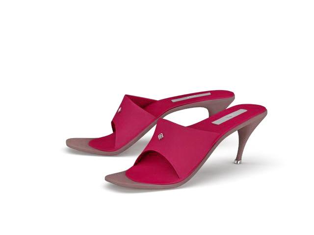 Sexy high heel slippers 3d rendering