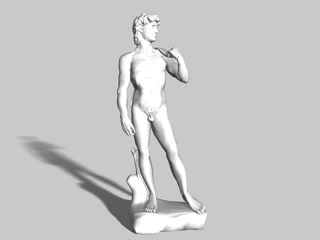 David statue 3d rendering