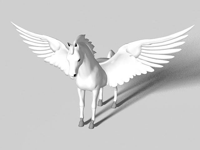 Pegasus statue 3d rendering