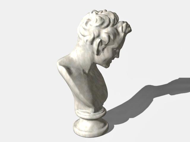 Satiro bust statue 3d rendering