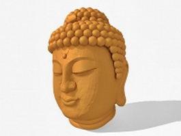 Buddha head sculpture 3d preview