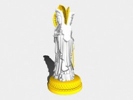Guanyin Buddha statue 3d preview