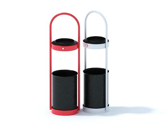 Street waste bins 3d rendering