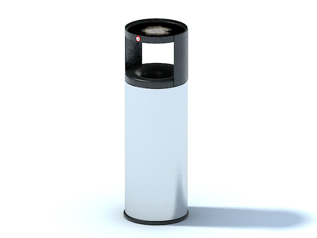 Office trash and recycling bin 3d rendering