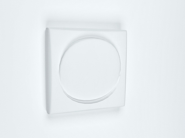 Round rocker light switch 3d rendering