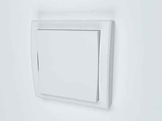 Wide rocker light switch 3d rendering