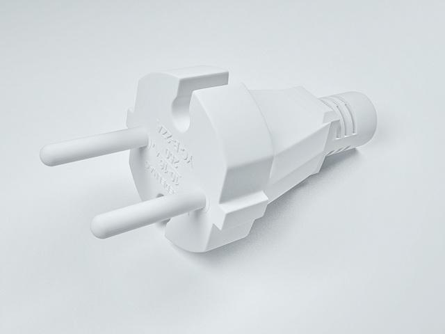 AC power plug 3d rendering