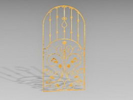 Vintage bronze gate 3d preview