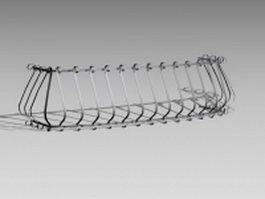 Wrought iron window guards 3d preview