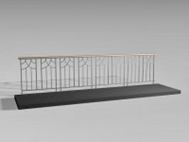 Pedestrian guard rail 3d preview
