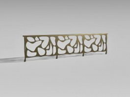 Bronze stair rails 3d preview