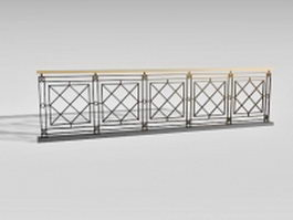 Wrought iron stair handrails 3d preview