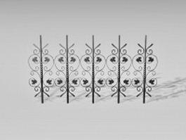 Decorative fence parts 3d preview