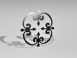 Wrought iron components 3d preview
