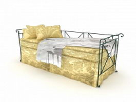 Metal daybed 3d preview