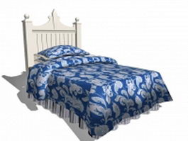 White kid bed 3d preview