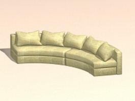 Curved conversation sofa 3d preview