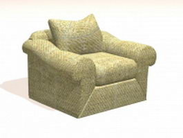 Fabric accent chair 3d preview