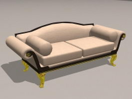 Upholstered settee 3d preview