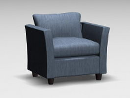 Fabric club chair 3d preview