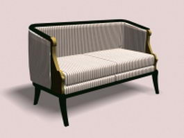Vintage settee 3d preview