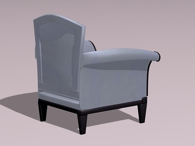 Class armchair 3d rendering