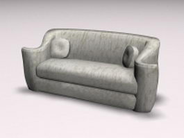 Settee loveseat 3d preview
