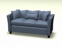 Fabric cushion sofa 3d preview