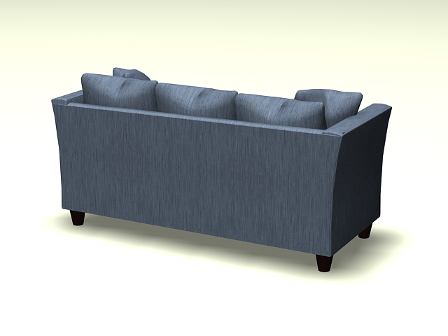 Fabric cushion sofa 3d rendering