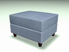 Upholstered storage ottoman 3d preview