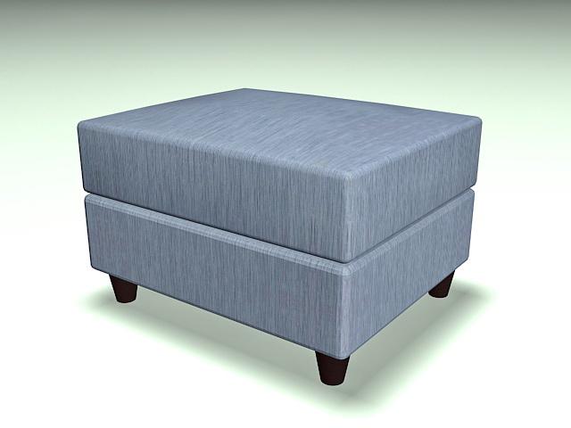 Upholstered storage ottoman 3d rendering