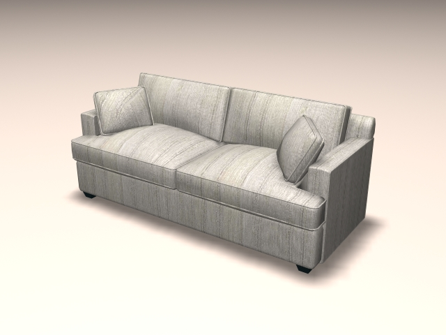 Loveseat sofa furniture 3d rendering