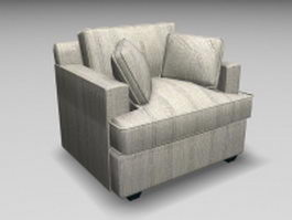 Single sofa chair 3d model preview