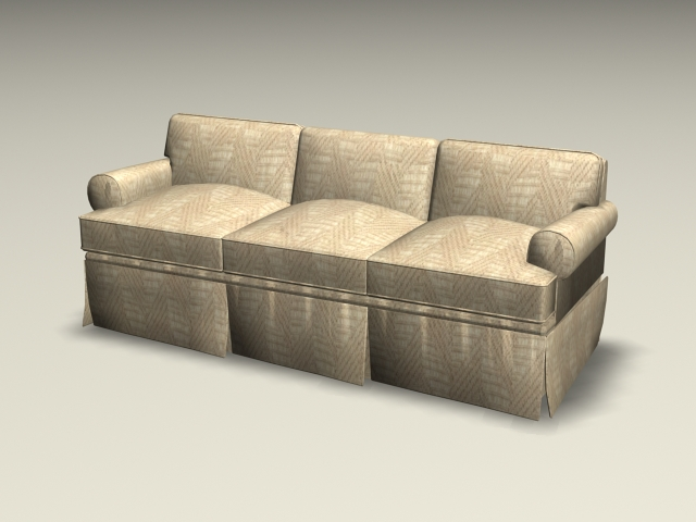 Three cushion sofa 3d rendering