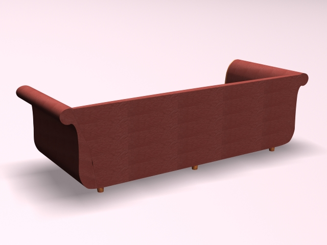 Settee sofa furniture 3d rendering