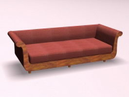 Settee sofa furniture 3d preview