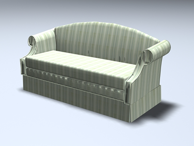 High back settee sofa 3d rendering