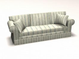 Contemporary settee couch 3d preview